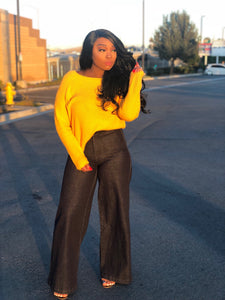Sweet Yella and Wide Denim Set