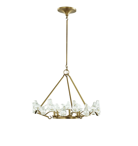 Dove Small Blown Glass Bird Chandelier DK89955