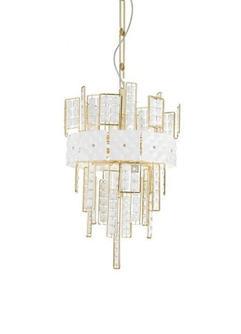 Crystalline White Crystal Chandelier 493/6