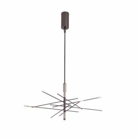 Steli Metal Sticks Matt Black Chandelier 611/8
