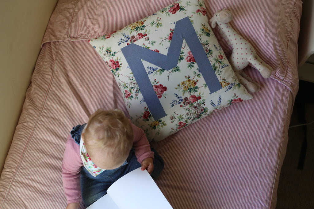 Custom letter cushion