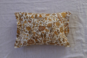 Autumnal cushion with frill 55cm x 35cm