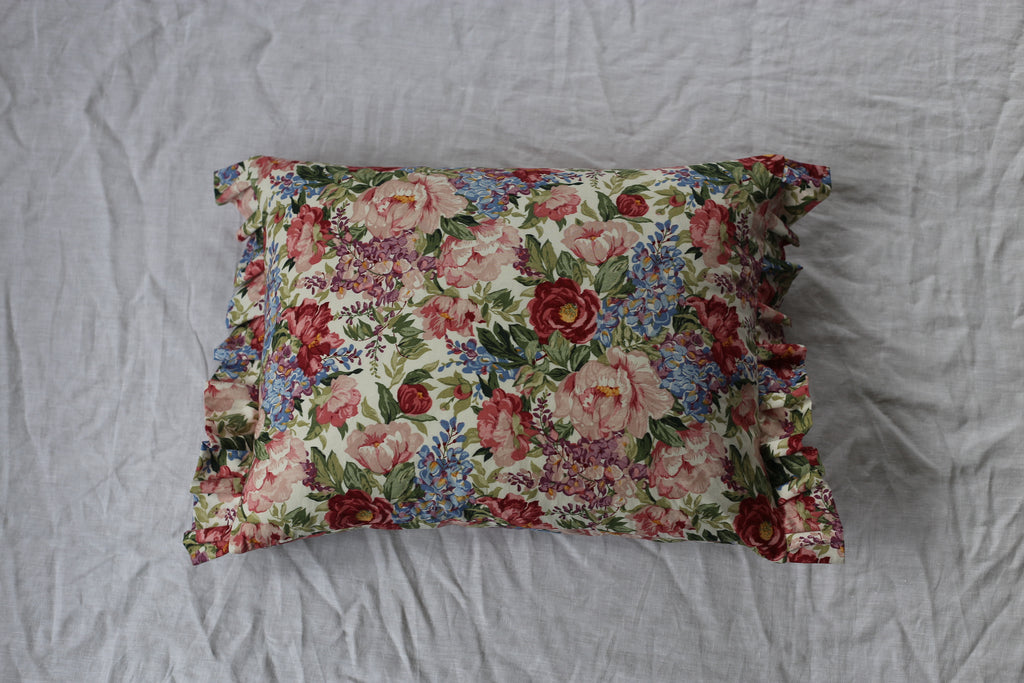 In bloom cushion with frill 55cm x 35cm