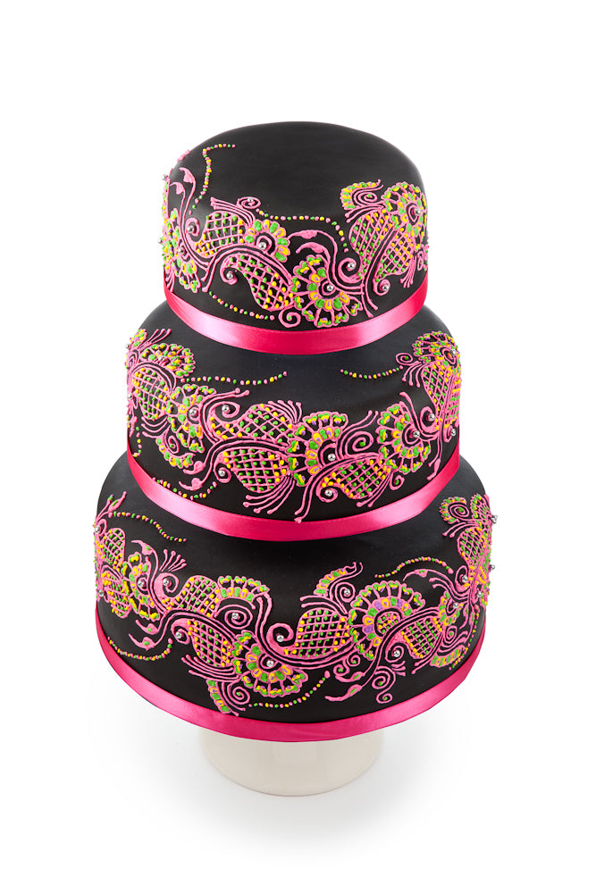 Luxury Hand Decorated Sari Cakes