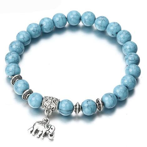 FREE Turquoise Beaded Bracelet with Elephant Charm - TotallyFree