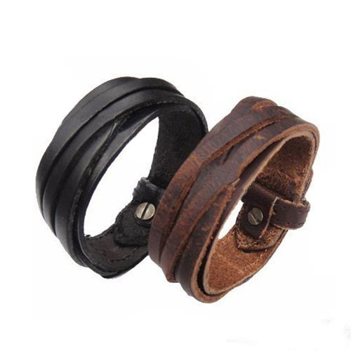 FREE Men's Braided Leather Bracelet Wristband - TotallyFree