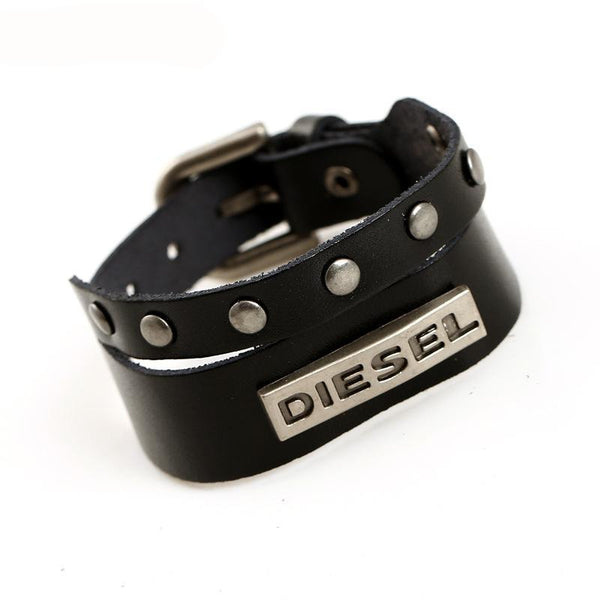 FREE Genuine DIESEL Brand Real Leather Multilayer Men's Bracelet - TotallyFree