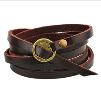FREE Men's Multilayer Leather Wrap Cuff Bracelet - TotallyFree