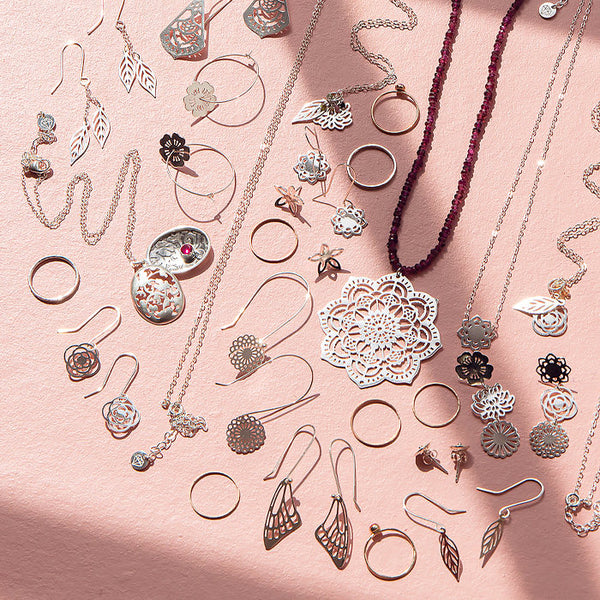 Unique jewellery designs for mixing and matching.