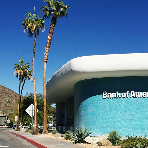 Bank of America building in Palm Springs, California.