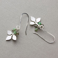 Branch and gemstone buds earrings.