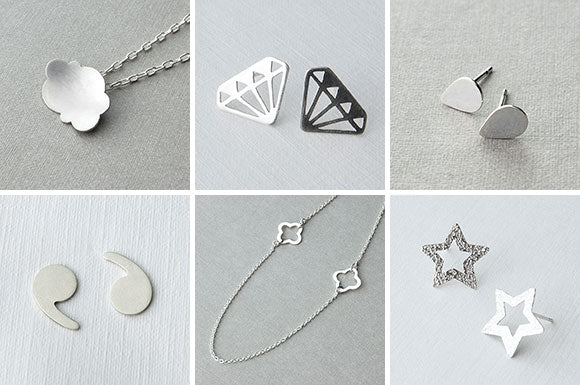A selection of new handmade jewellery designs.