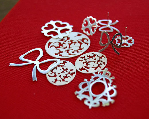 Handmade jewellery components in sterling silver.