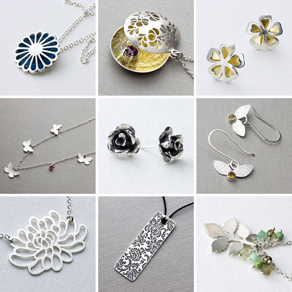 A collection of new handmade jewellery designs.