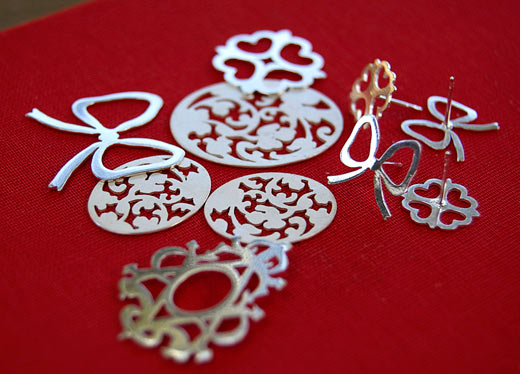 Sterling silver handmade jewellery by Simone Walsh.