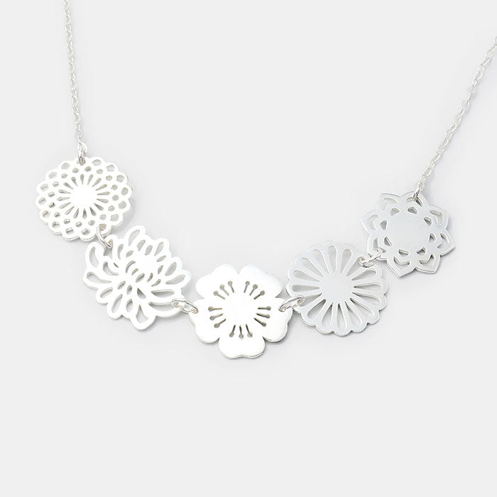 Bouquet necklace made in sterling silver: a unique statement necklace by Australian jewellery designer Simone Walsh.
