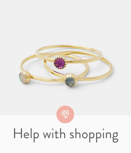 Help with shopping for jewellery: customer service