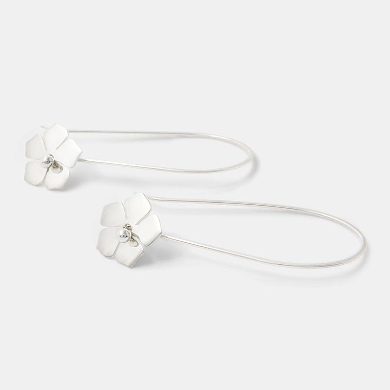 Forget-me-not earrings in sterling silver