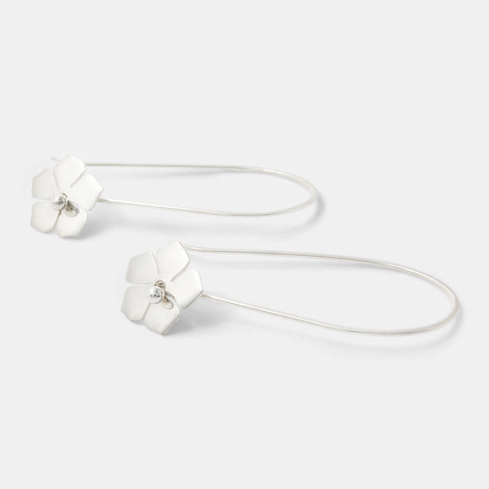 Forget-me-not dangle earrings in sterling silver