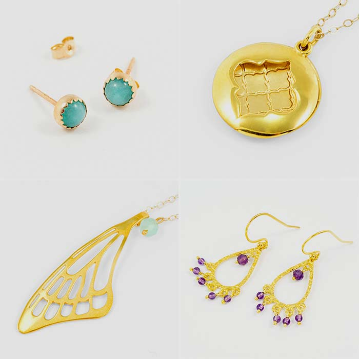 Gold jewellery and rose gold jewellery available in our online store, Australia