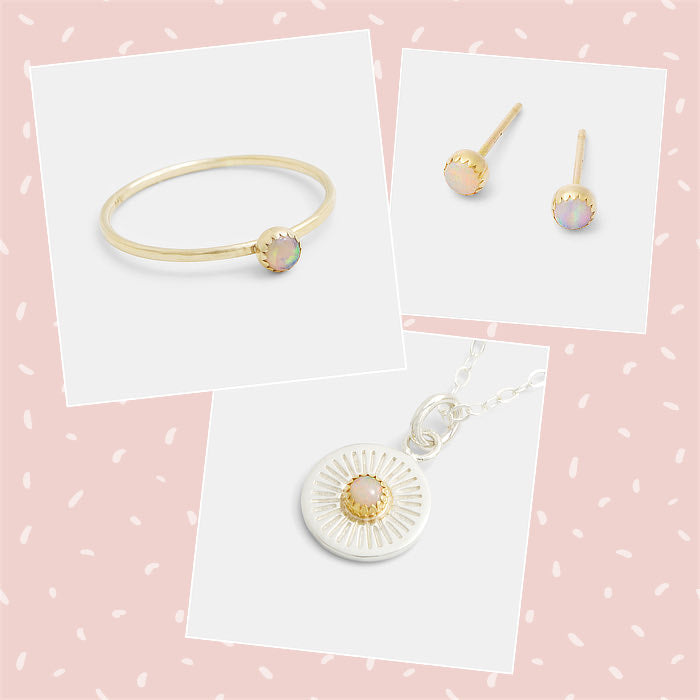 Opal and solid gold jewellery to mix and match: handmade Australian jewellery designs.