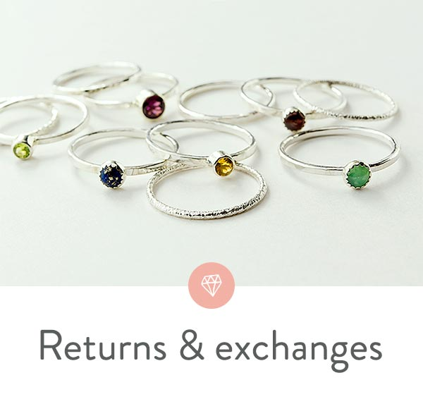 Returns and exchanges of your online jewellery purchases.