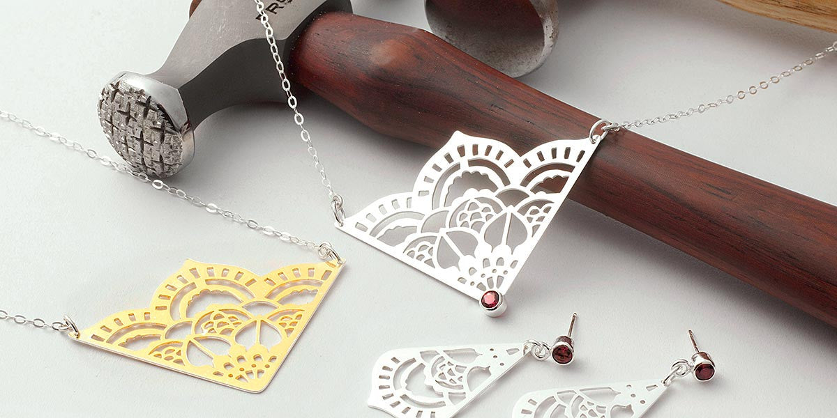 Unique Australian designer jewellery made in sterling silver and gold.