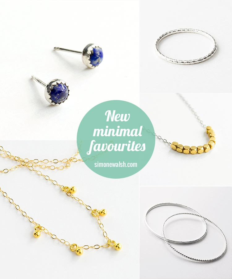 New simple and minimalist jewellery designs.