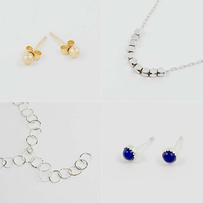 Minimalist jewellery available in our online shop, Australia