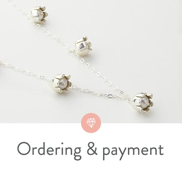Ordering, payment and security in our Australian online jewellery shop.