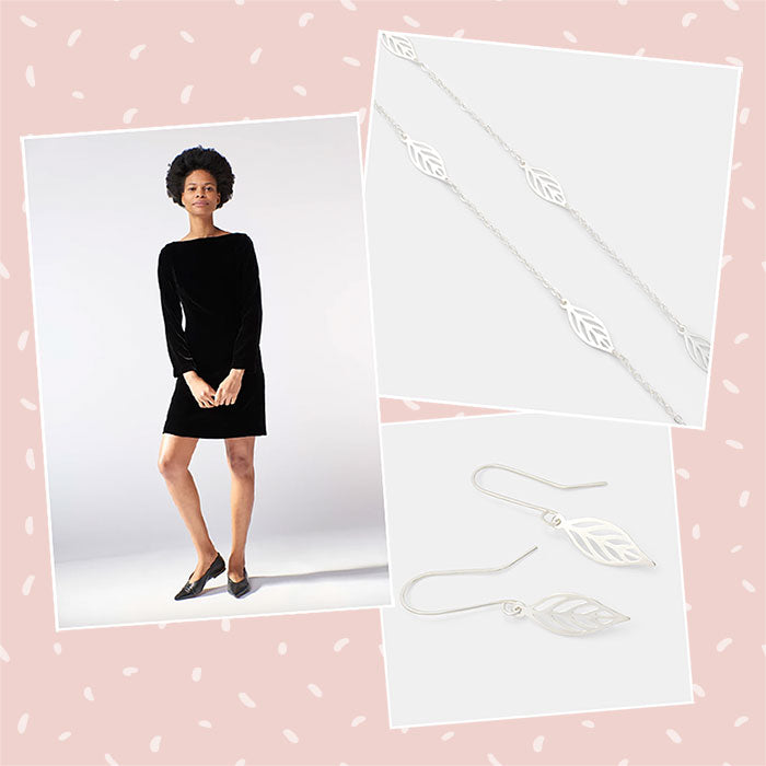 Little black dress and unique sterling silver jewellery: Australian outfit idea for New Year's Eve.