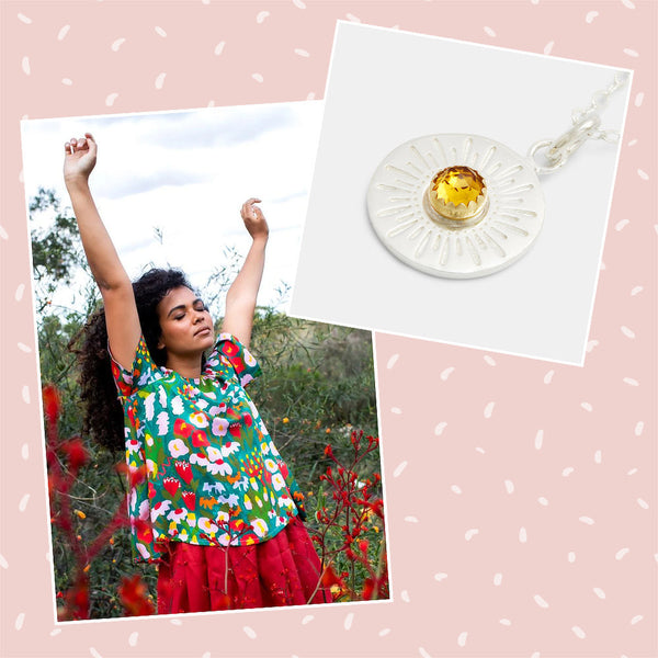 Australian jewellery and fashion: outfit ideas inspired by nature.