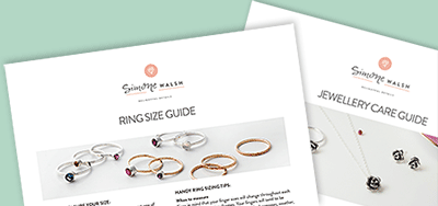 Our ring size measuring guide and jewellery care guide.