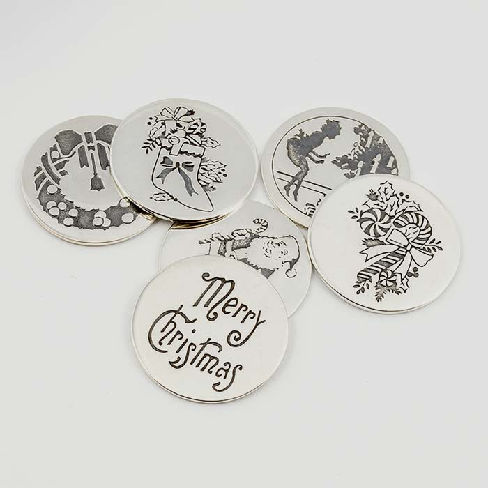 Sterling silver Christmas pudding coins available in our online shop, Australia
