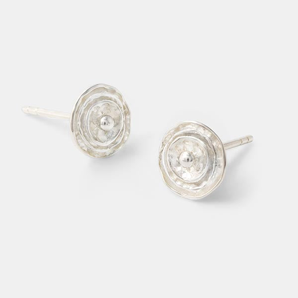 Rose post earrings in our jewellery store.