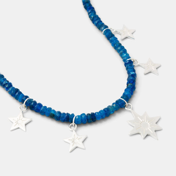 Beaded necklaces: stars necklace