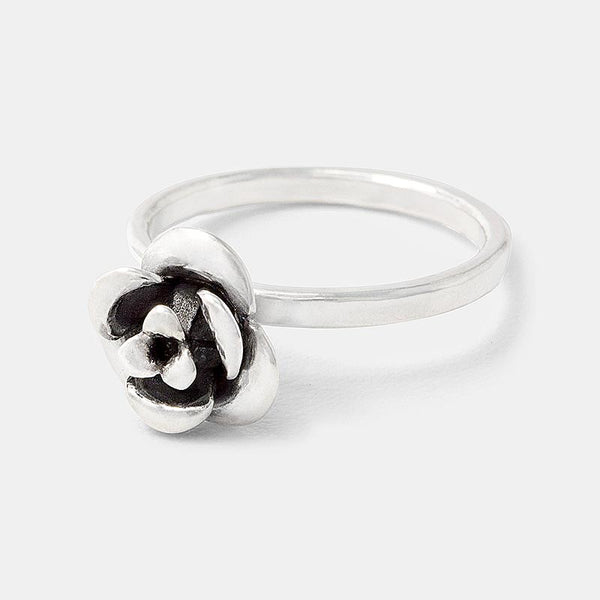 Sterling silver ring: rose cocktail ring in our jewelry store.