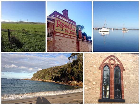 Photograph collage of sights in Sydney and Yorke Peninsula.