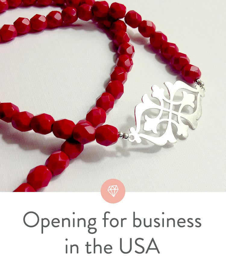 Opening a new jewelry shop in the United States.