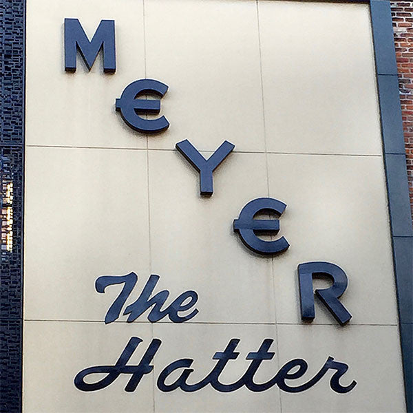 Vintage hatter sign in New Orleans.