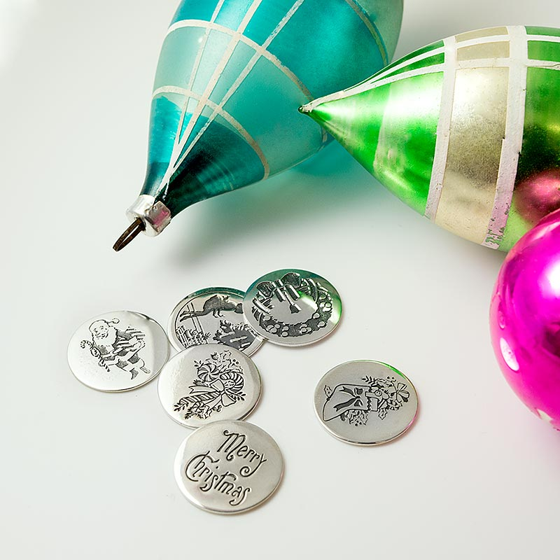 Silver Christmas coins for plum pudding to buy.