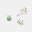Sterling silver stud earrings with chrysoprase gemstones from our Australian jewellery online store.