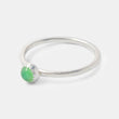 Sterling silver stacking ring with green chrysoprase gemstone - shop in our jewellery online store in Australia.