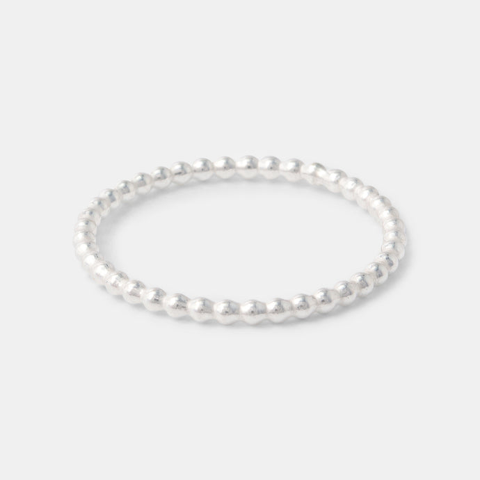 Sterling silver stacking ring: elegantly simple dotted silver ring in our Australian jewellery online shop.