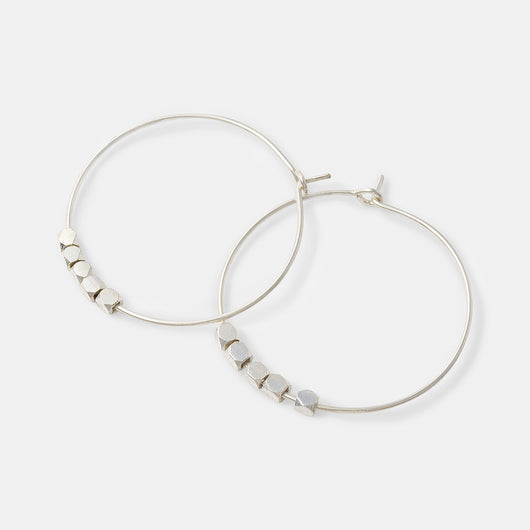 Simple and minimalist sterling silver hoop earrings in our Australian jewellery shop.