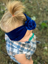 Load image into Gallery viewer, Royal Blue Velvet TopKnot
