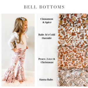 Vintage Christmas Bell Bottoms