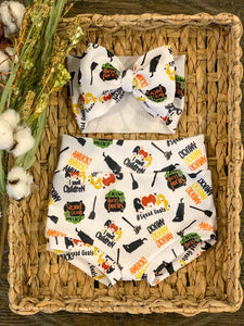 Hocus Pocus High Waisted Bummies / Diaper Cover / Coming Home Outfit/ Birthday Outfit/ Smash Cake Outfit