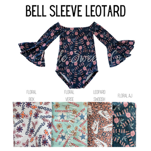 Branded Bell Sleeve Leotard
