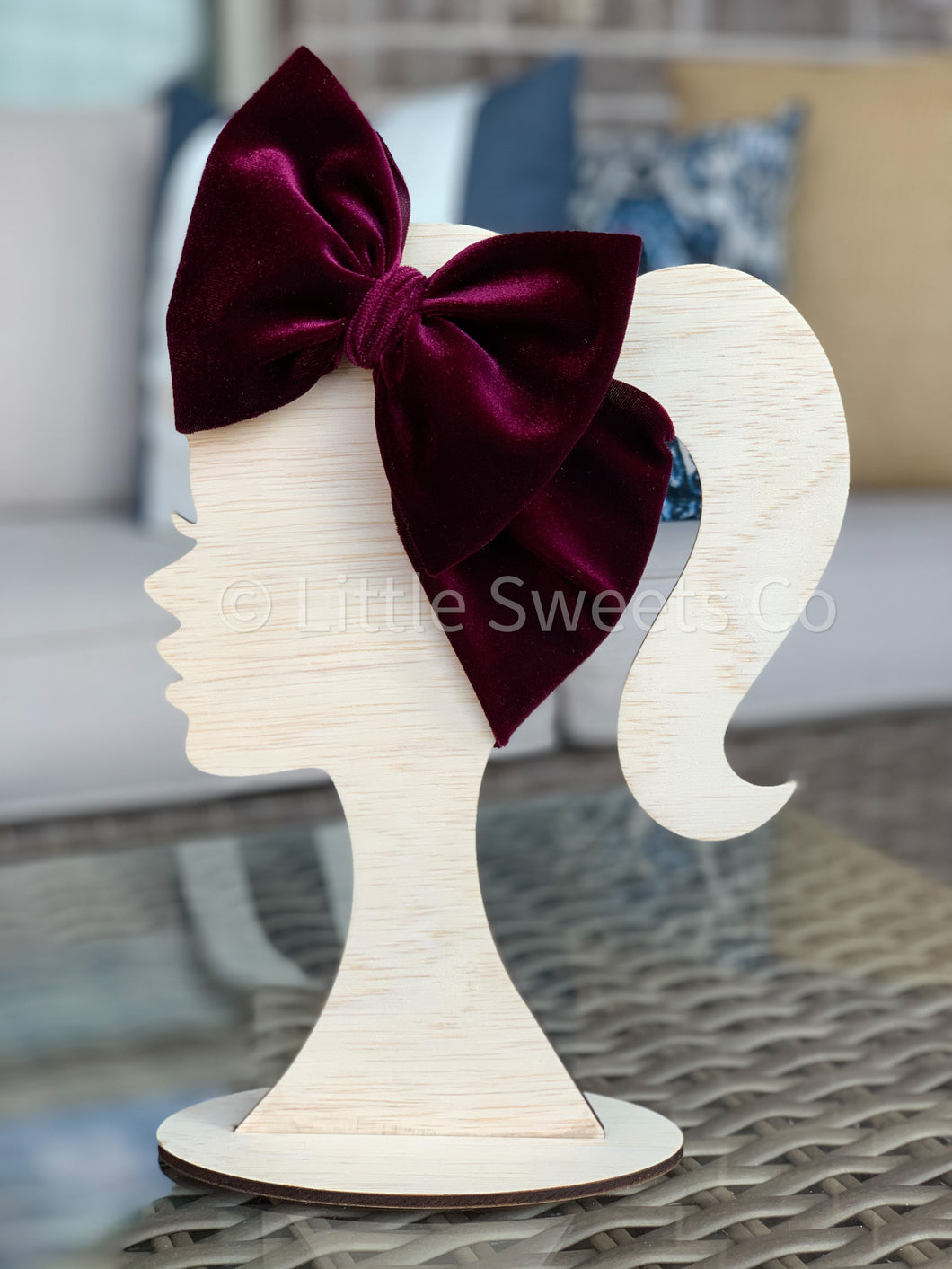 Burgundy Velvet Headwrap
